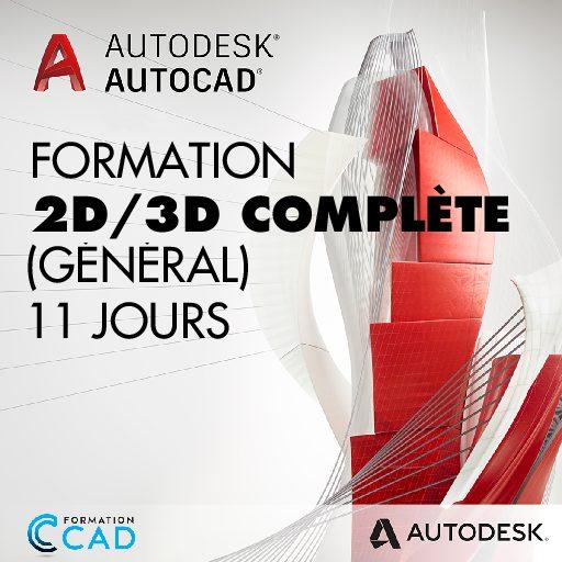 Formation AutoCAD Dessin 2D & 3D Complète - Général (11 jours)
