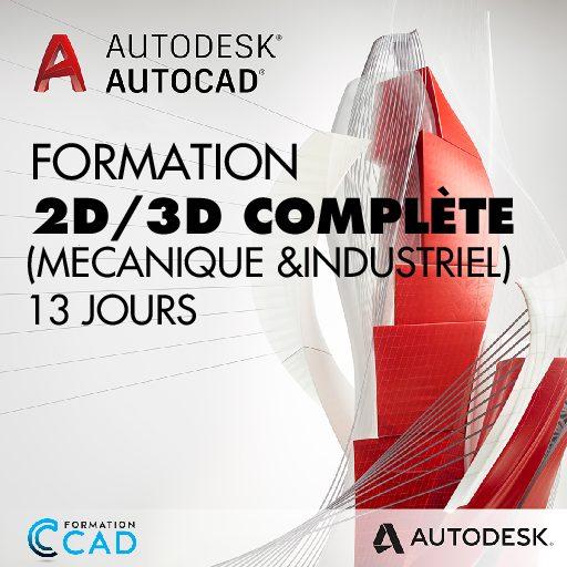 Formation AutoCAD Dessin 2D & 3D Complète - Mécanique & Industriel(13 jours)