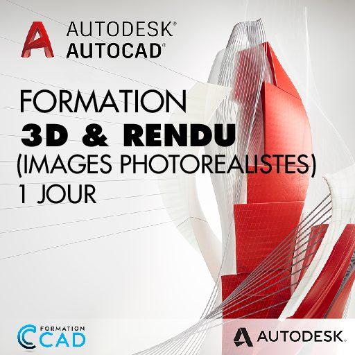 Formation AutoCAD 3D Rendu - Images Photo Réaliste (1 jour)