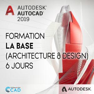 Formation AutoCAD 2D Base Architecture & Design (6 jours)