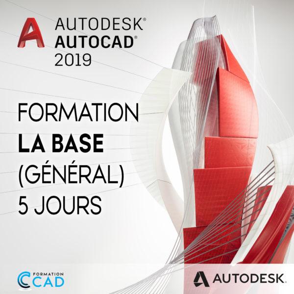 Formation AutoCAD 2D Base Générale (5 jours)
