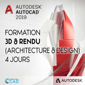 Formation AutoCAD 3D Rendu - Architecture & Design (4 jours)