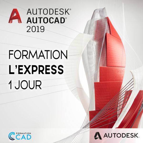 Formation AutoCAD 2D Express (1 jour de semaine)
