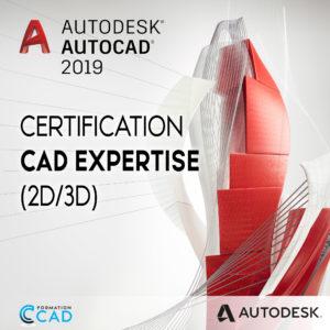 """Certification """"CAD Expertise"""" pour Dessinateurs Autocad"""