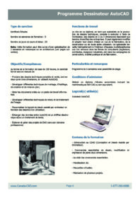 Formation Dessinateur Autocad 2D/3D Expertise (20 jours)