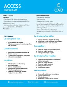 Formation Microsoft Access - Base (2 jours)