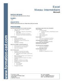 Formation Microsoft Excel - Intermédiaire (1 jour)