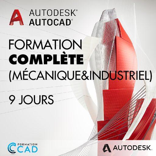 Formation AutoCAD 2D Complète - Mécanique & Industriel (9 jours)