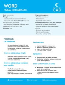 Formation Microsoft Word Intermédiaire (1 jour)