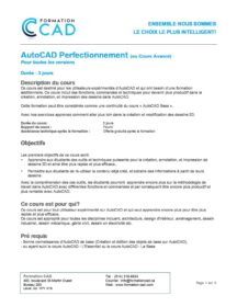 Formation AutoCAD 2D Complète Générale - Mécanique & Industriel (9 jours)