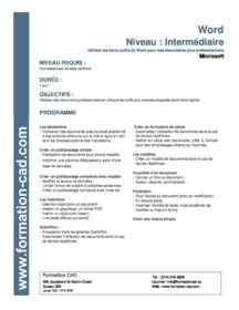 Formation Microsoft Word Intermédiaire (1 jour)