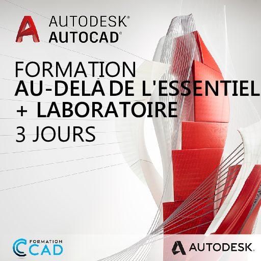 Formation AutoCAD 2D Au-delà de l'Essentiel + laboratoire (3 jours de semaine)