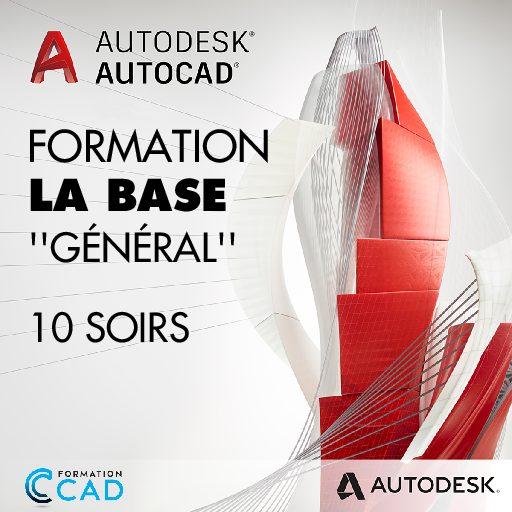 Formation AutoCAD 2D Base Générale (10 soirs de semaine)