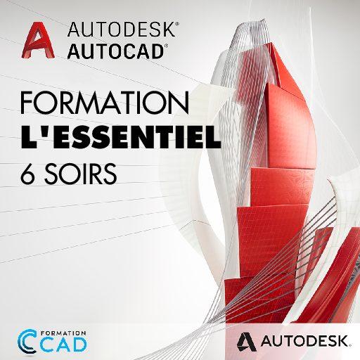 Formation AutoCAD 2D L'Essentiel (6 soirs de semaine)