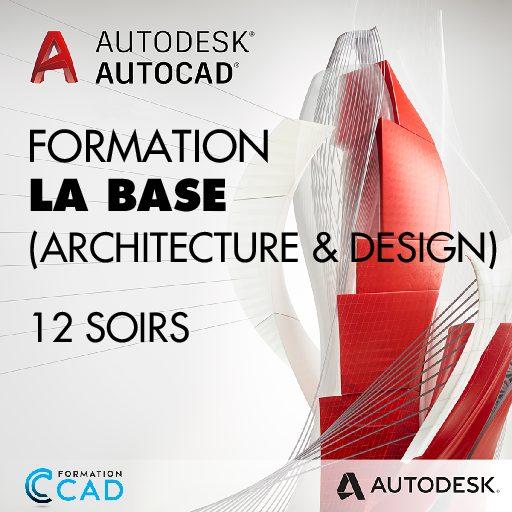 Formation AutoCAD 2D Base Architecture & Design (12 soirs de semaine)