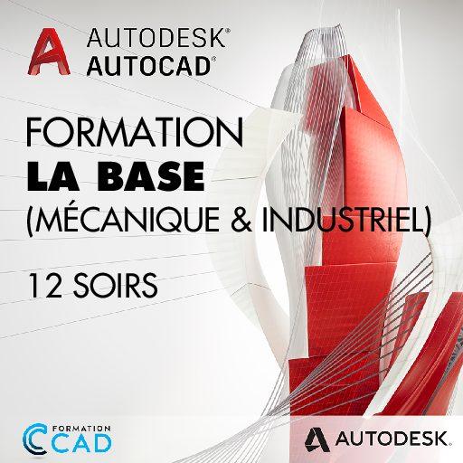 Formation AutoCAD 2D Base Dessin Mécanique & Industriel (12 soirs de semaine)