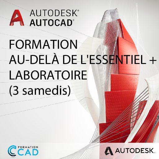 Formation AutoCAD 2D Au-delà de l'Essentiel + Laboratoire (3 SAMEDIS)