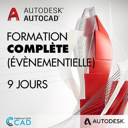 Formation AutoCAD 2D Complète - Évènementiel (9 jours)