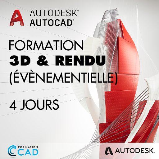 Formation AutoCAD 3D Rendu - Dessin Évènementiel (4 jours)