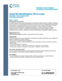 Formation AutoCAD Dessin 2D & 3D Complète - Évènementiel