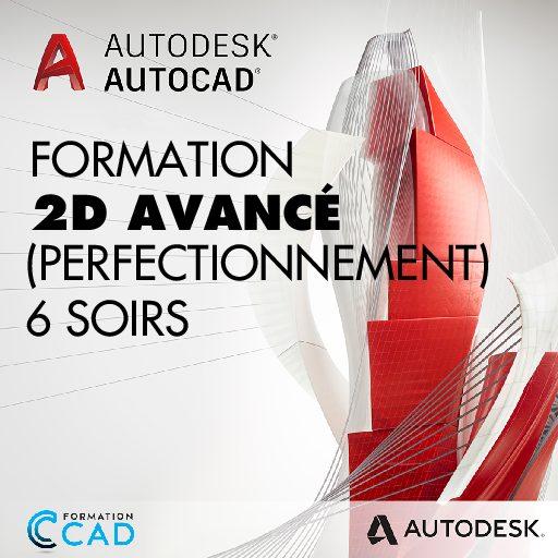 Formation AutoCAD 2D Avancé :Perfectionnement (6 soirées en semaine)
