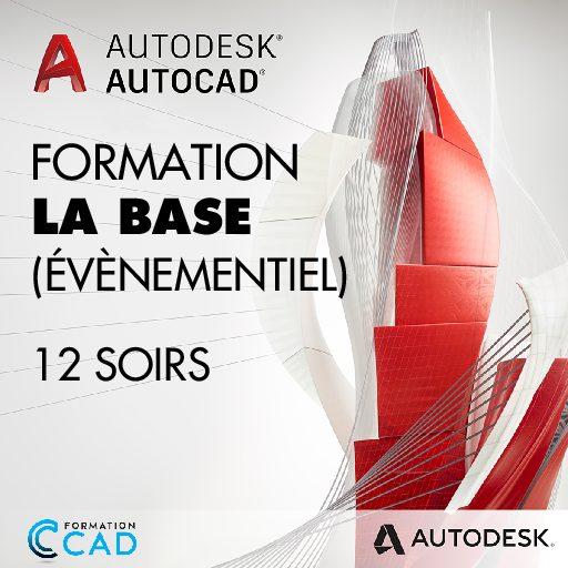Formation AutoCAD 2D Base Dessin Évènementiel (12 soirs)