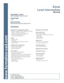 Excel Intermédiaire/Intermediate NouvLR